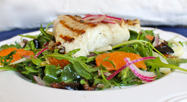 Grilled Sablefish (Black Cod) with a Sicilian Salad Recipe