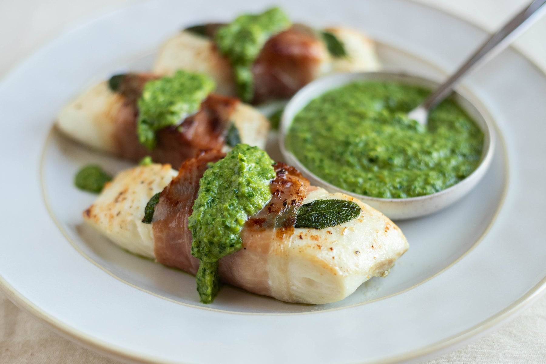 Captain Stu's Halibut with Asparagus Sauce Recipe