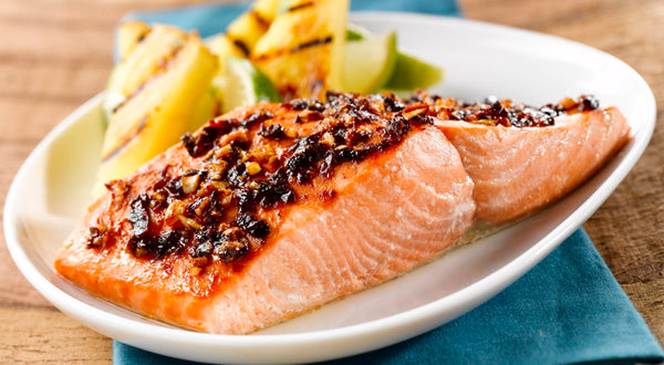 Hot Honey Broiled Salmon Recipe