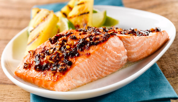 Hot Honey Broiled Salmon