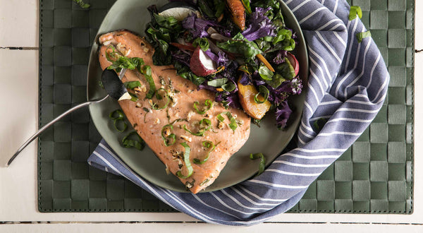 Lemon-Basil Keta Salmon Recipe