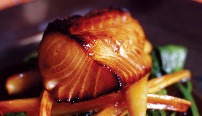 Zingy Poach with Orange Soy Cumin Glaze Recipe