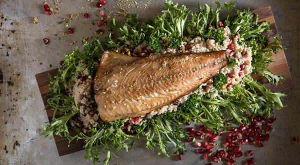 Pomegranate-Glazed Sablefish (Black Cod) with Bulgur Salad Recipe