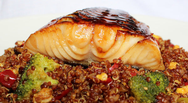 Sweet and Spicy Sablefish (Black Cod) with Quinoa Fried Rice Recipe