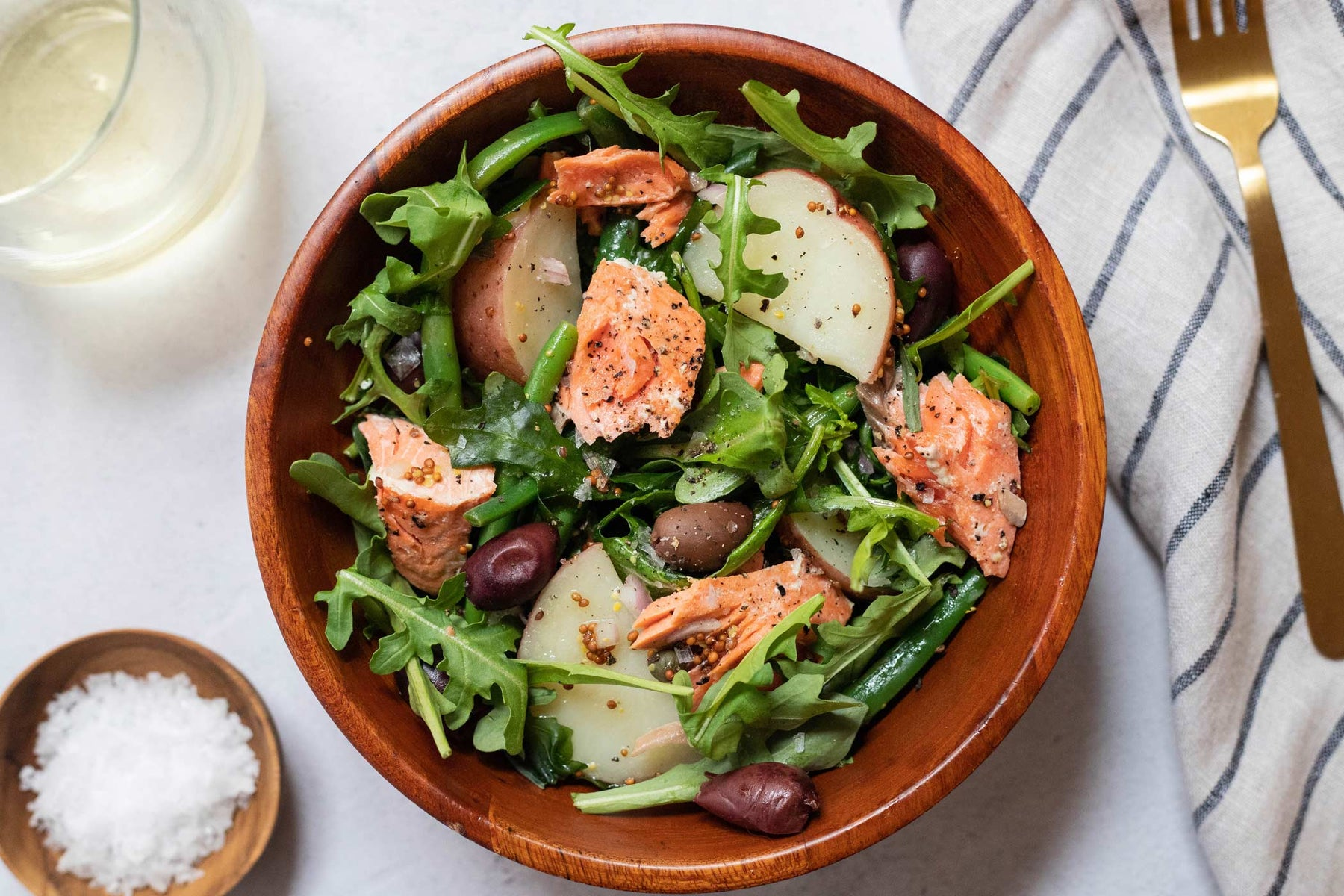 Salmon Niçoise Salad with Grainy Mustard Vinaigrette Recipe