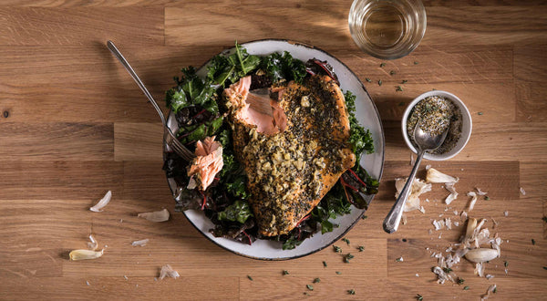 Cast-Iron Skillet Coho Salmon Vesuvio Recipe