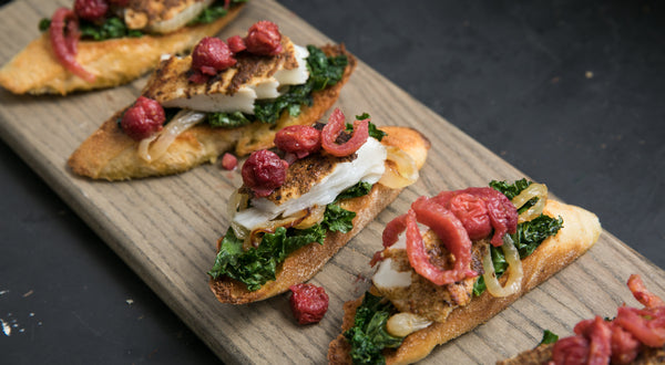 Tart Cherry Halibut on Toasted Brioche Recipe