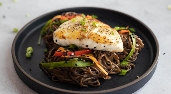 Seared Rockfish with Soba Noodle Salad Recipe