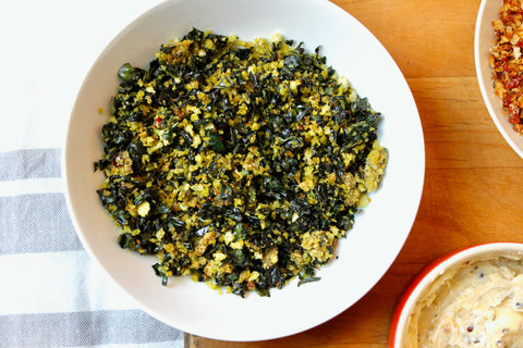 Kale Anchovy Crumbs