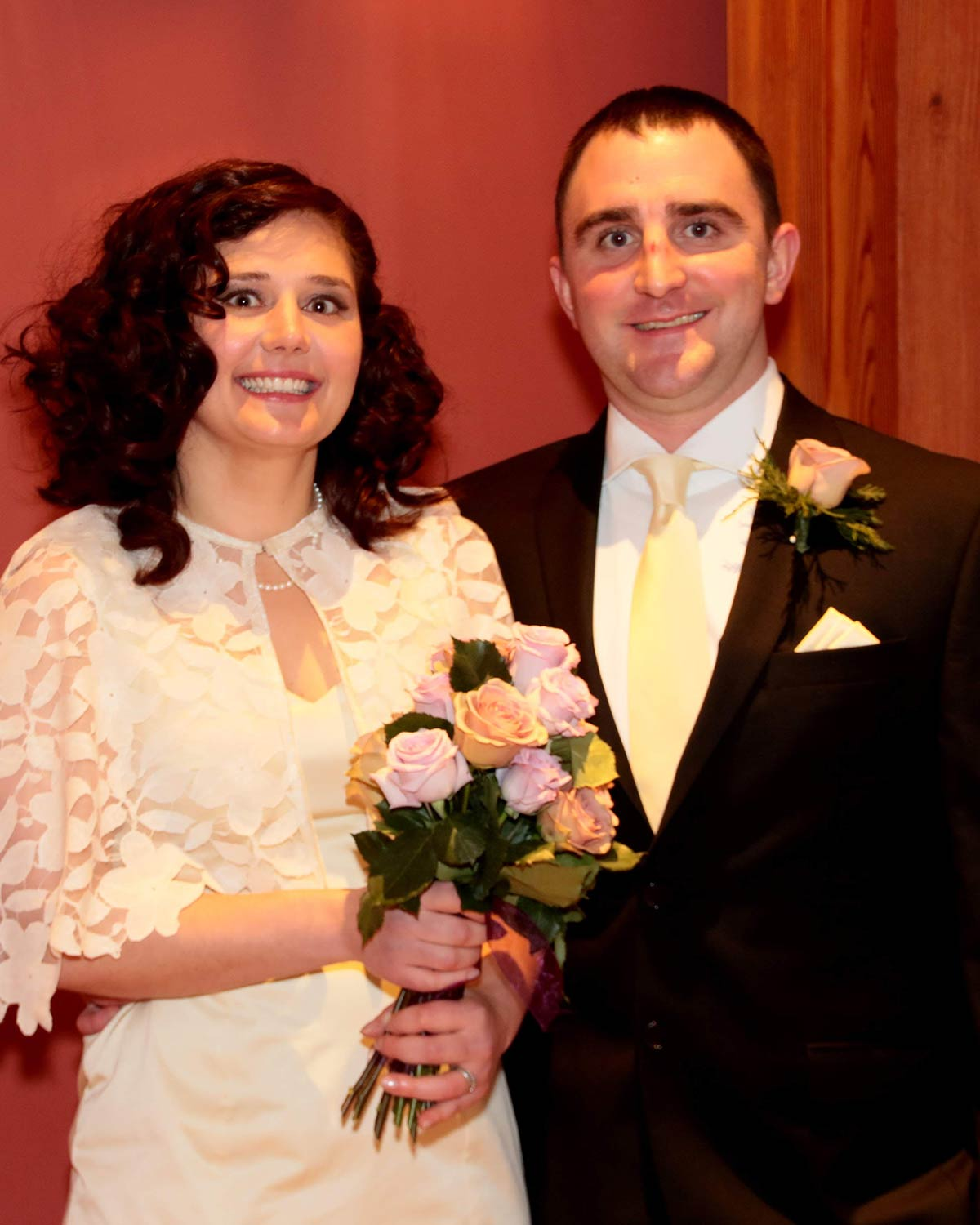 Bridgette and Isaac on their wedding day