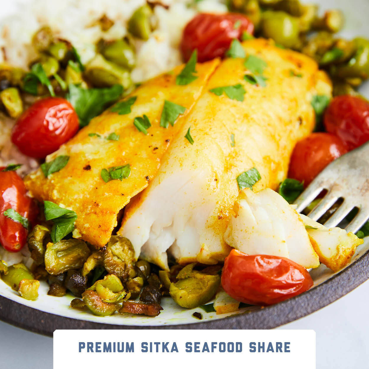 Turmeric Sablefish with Tomatoes & Capers
