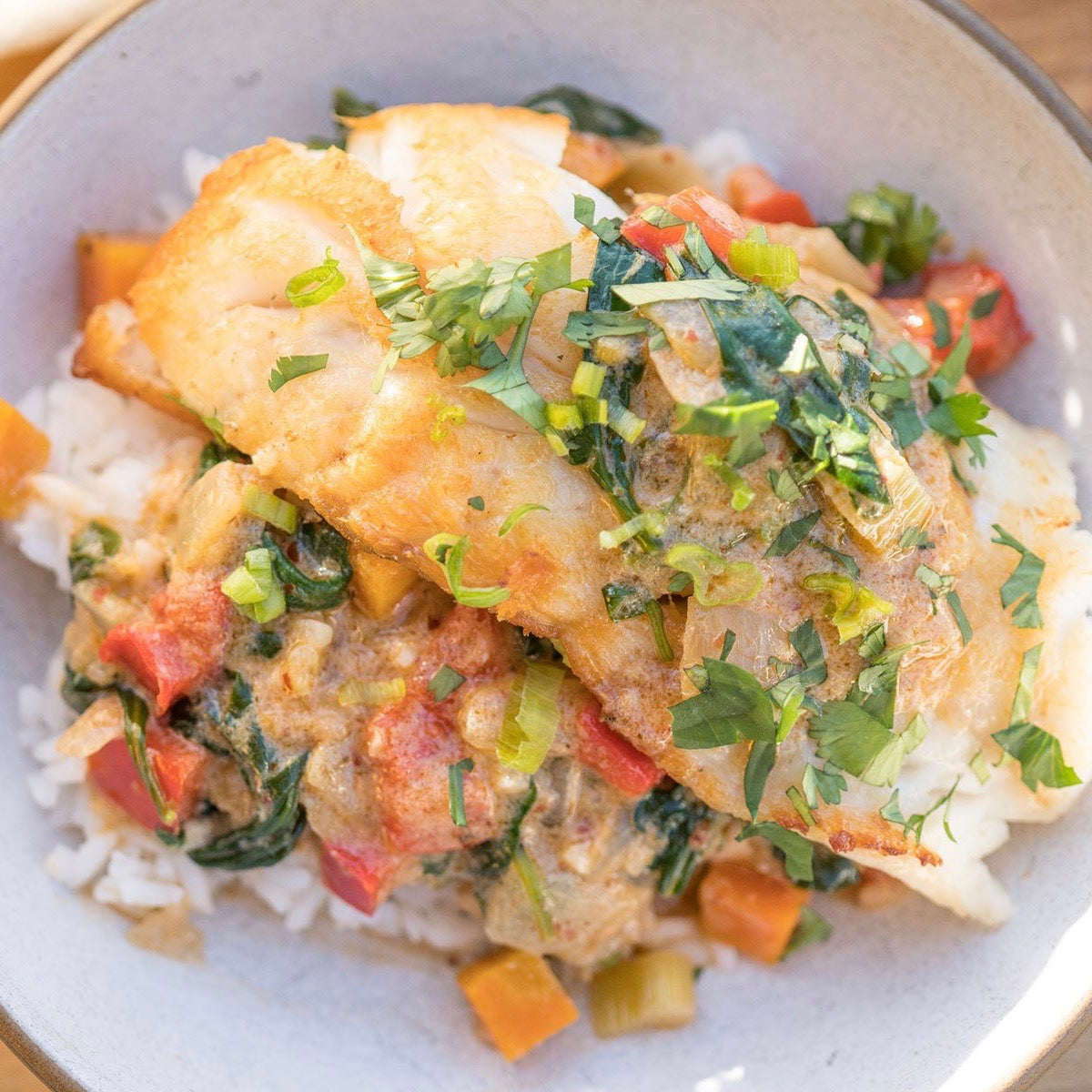 Drew's Black Rockfish Red Curry
