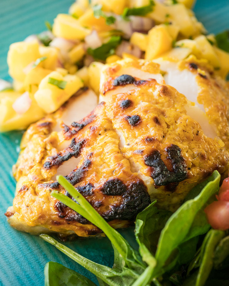 Tandoori-style Sablefish (Black Cod) with Mango Relish Recipe | Sitka Salmon Shares
