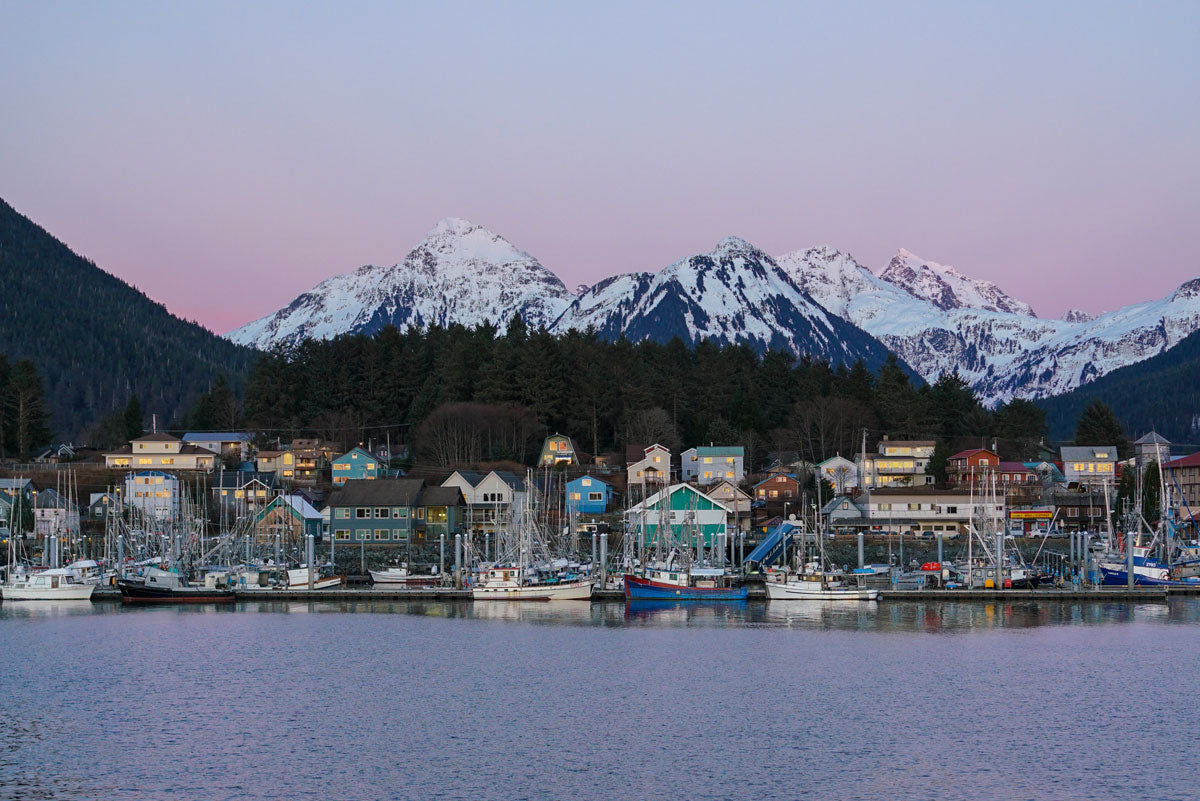 Waterfront view of Sitka, Alaska