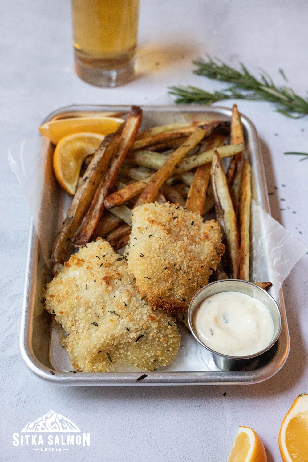 Baked Fish and Chips Recipe | Sitka Salmon Shares