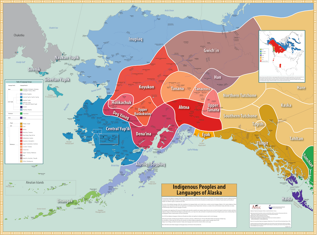 Indigenous Peoples and Languages of Alaska by Michael Krauss, Gary Holton, Jim Kerr, and Colin T. West. 2011.