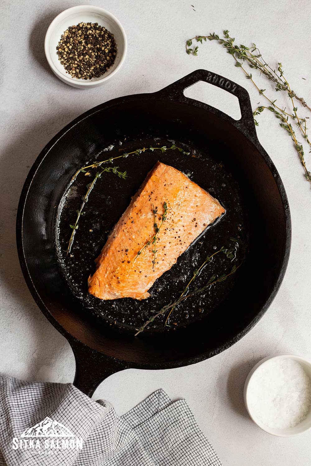 Butter Basted Salmon Recipe | Sitka Salmon Shares