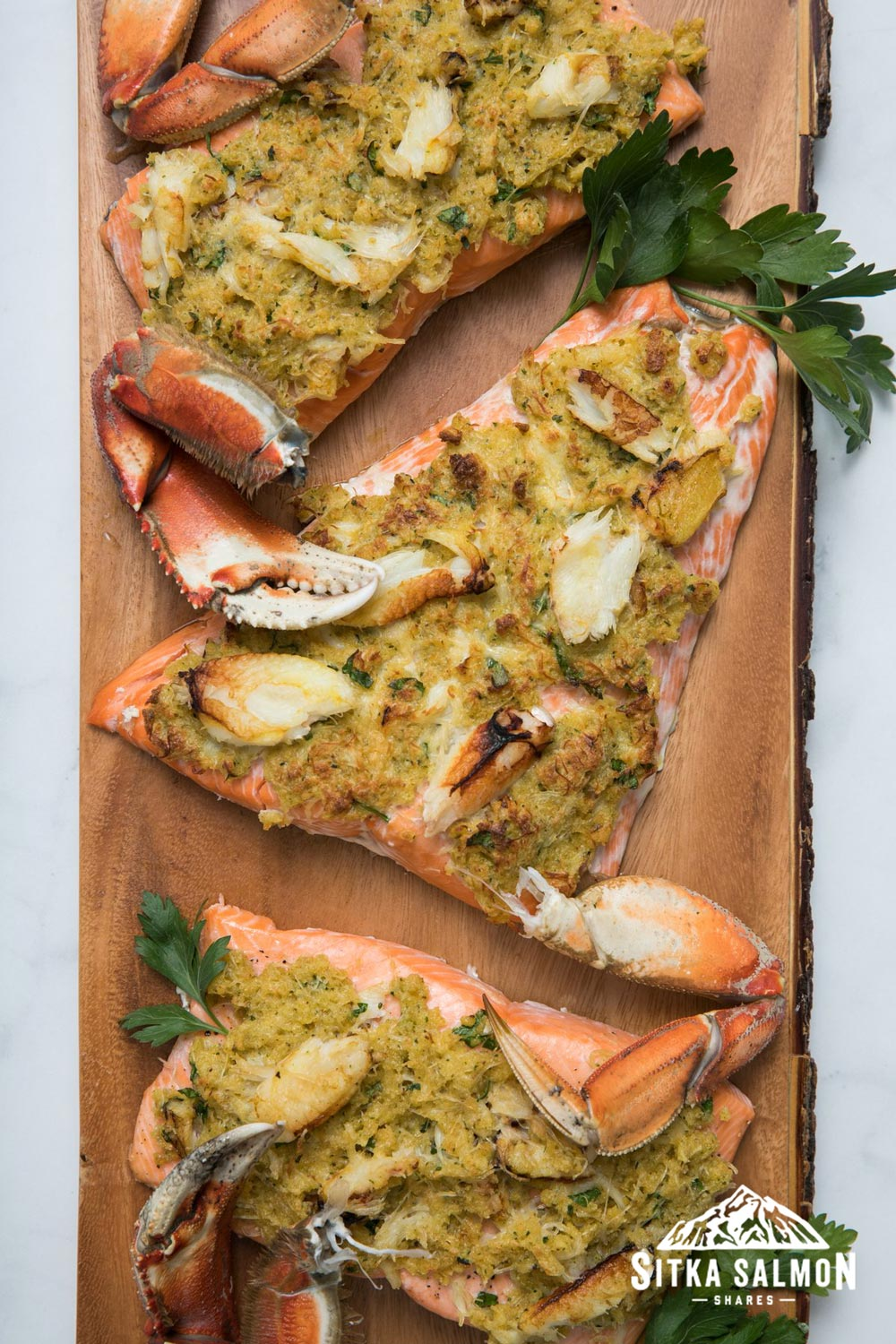 Crab-Crusted Salmon Recipe | Sitka Salmon Shares