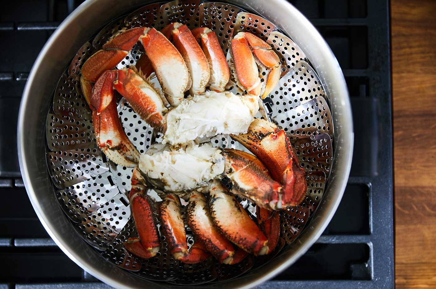 Steaming crab