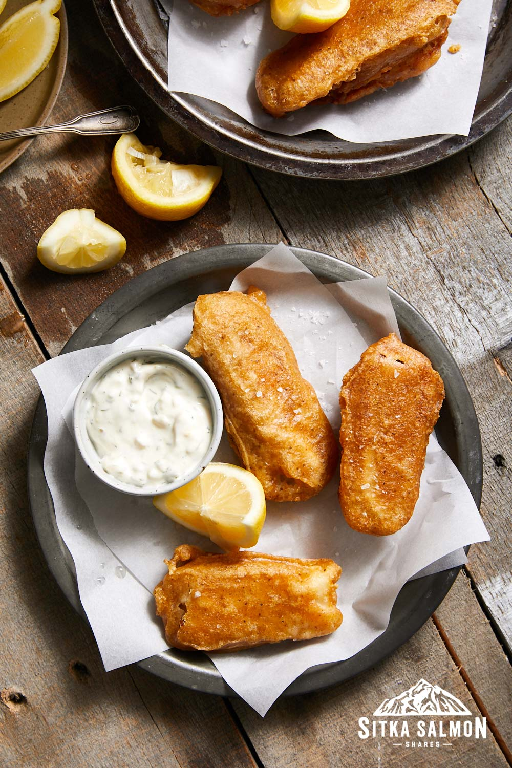 Super Crispy Fried Fish Fingers with Easy Homemade Tartar Sauce Recipe | Sitka Salmon Shares