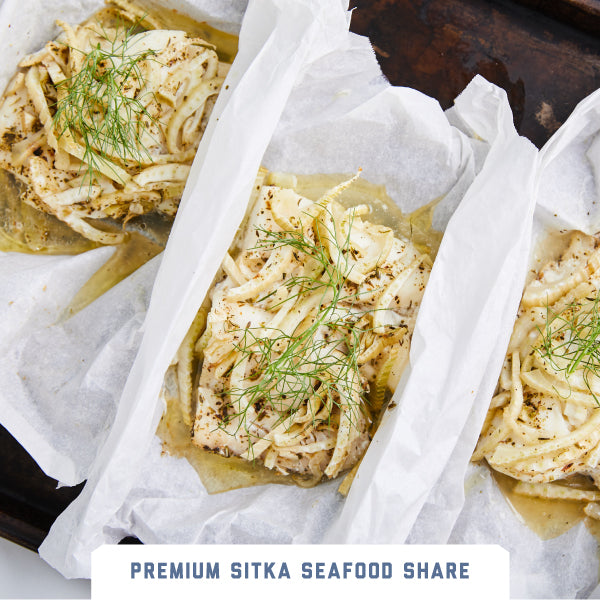 Rockfish with Fennel and Butter En Papillote