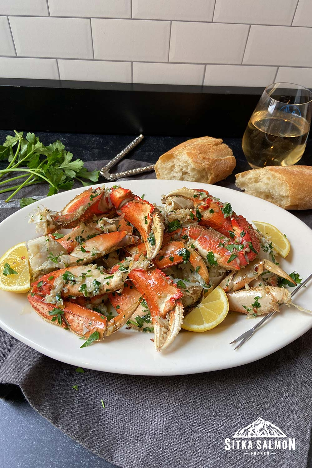 Spicy Hot Mess Crab Legs with Garlic, Butter, and Parsley Recipe | Sitka Salmon Shares