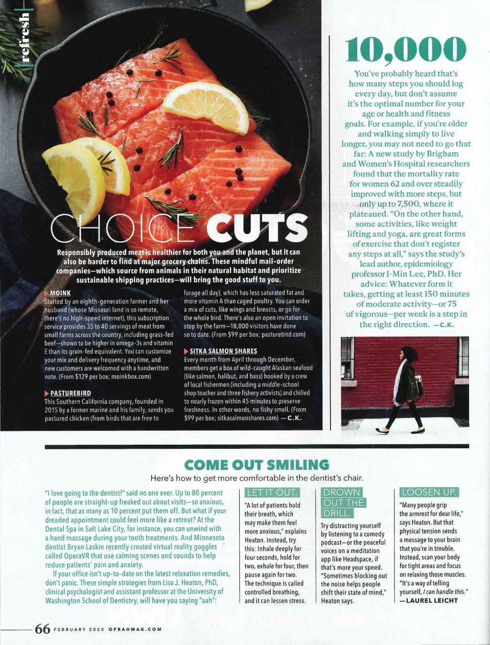 The Oprah Magazine mentions Sitka Salmon Shares