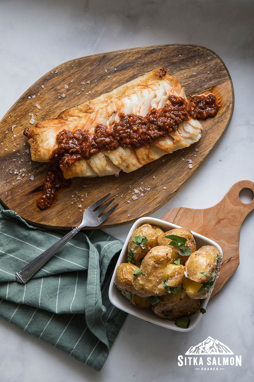 Mike's Red Chermoula Sablefish (Black Cod) Recipe | Sitka Salmon Shares