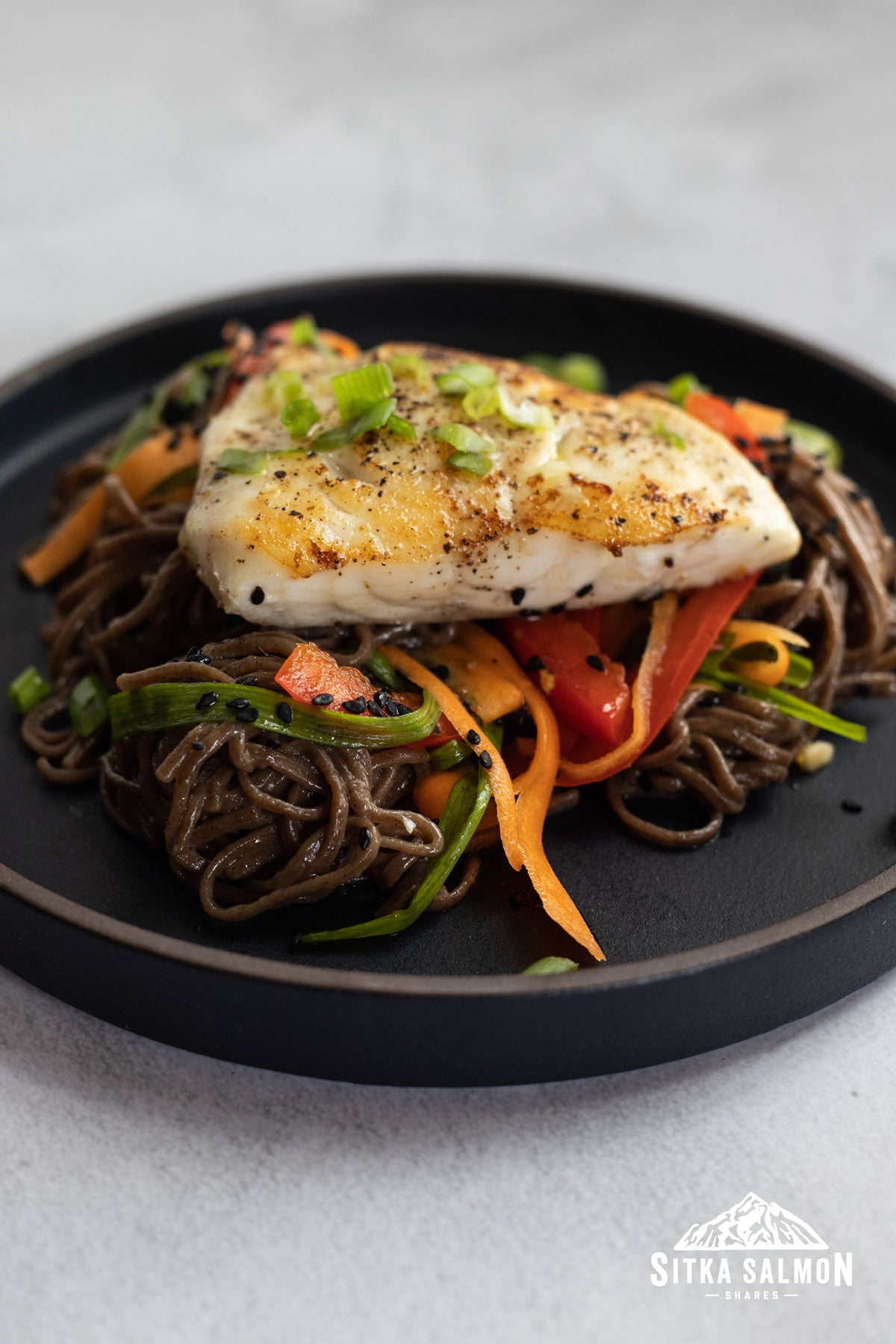 Seared Rockfish with Soba Noodle Salad Recipe | Sitka Salmon Shares