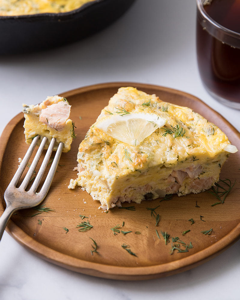 Sheri's Breakfast Salmon & Caper Frittata Recipe | Sitka Salmon Shares