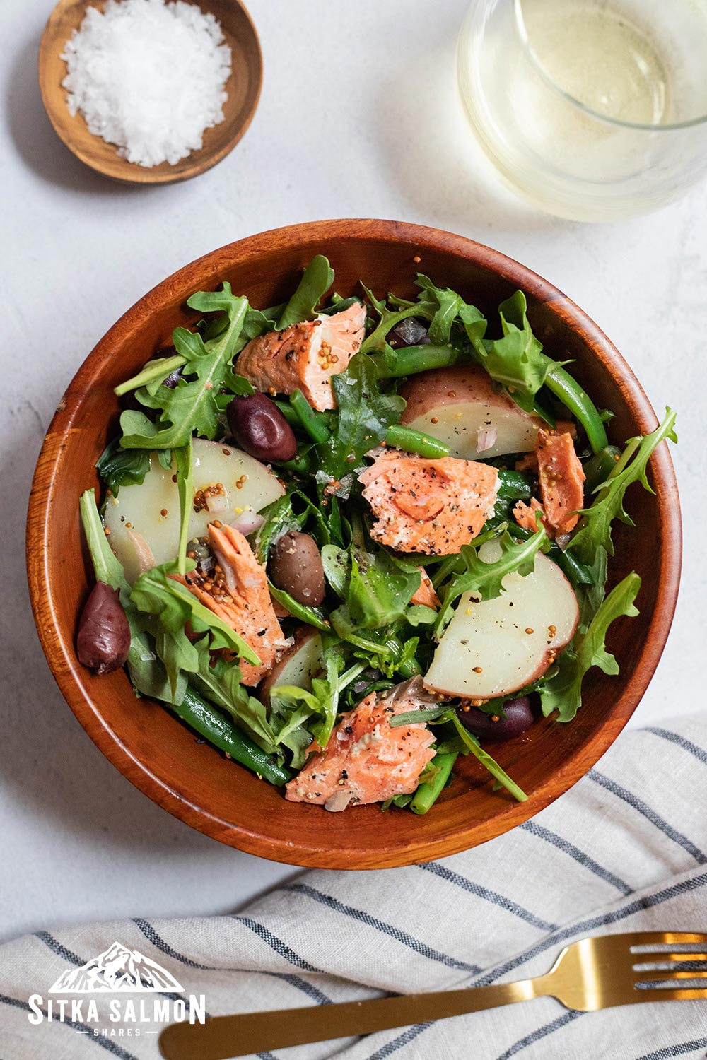 Salmon Niçoise Salad with Grainy Mustard Vinaigrette Recipe | Sitka Salmon Shares
