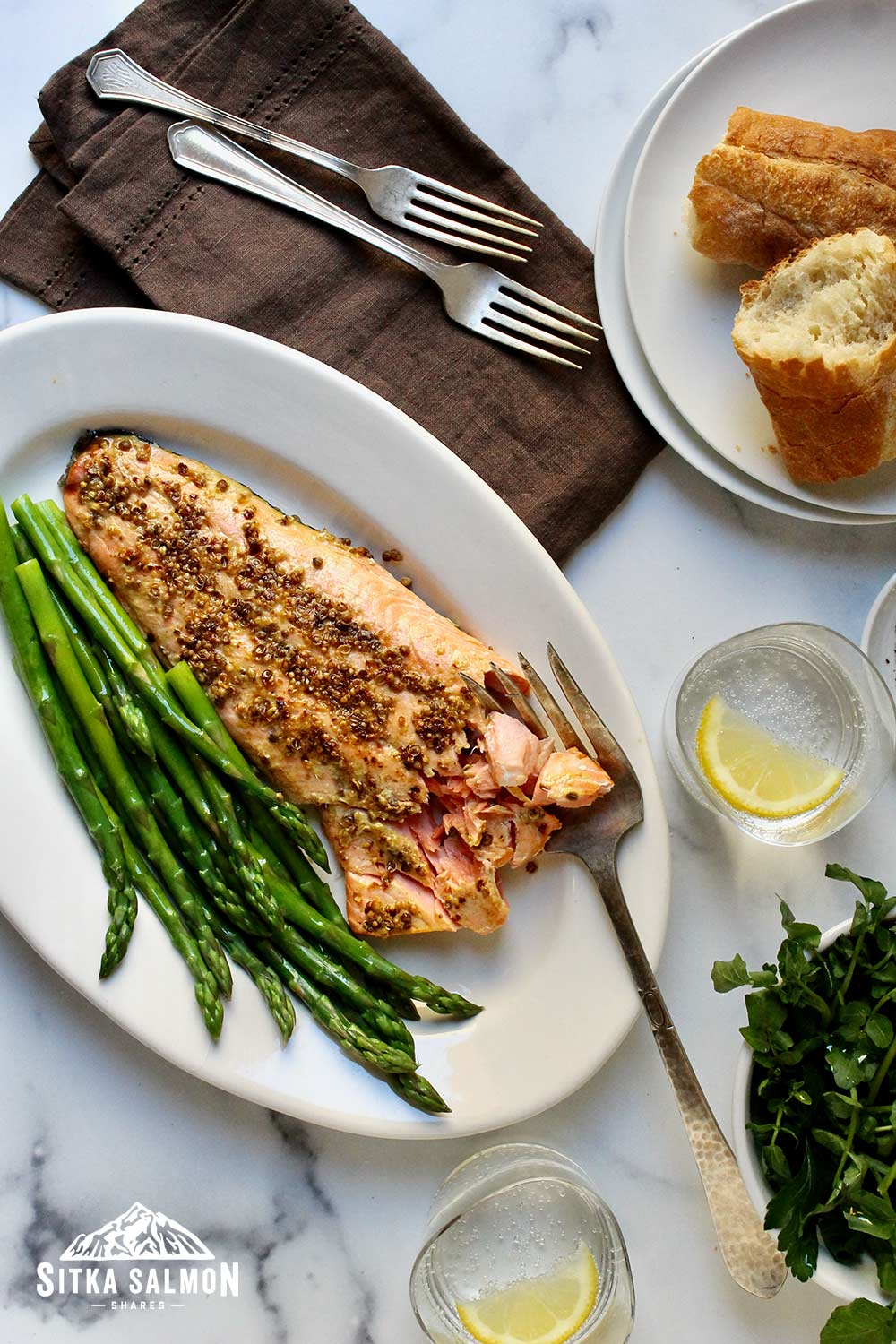 Spice-Crusted Salmon with Herb Salad Recipe   Sitka Salmon Shares