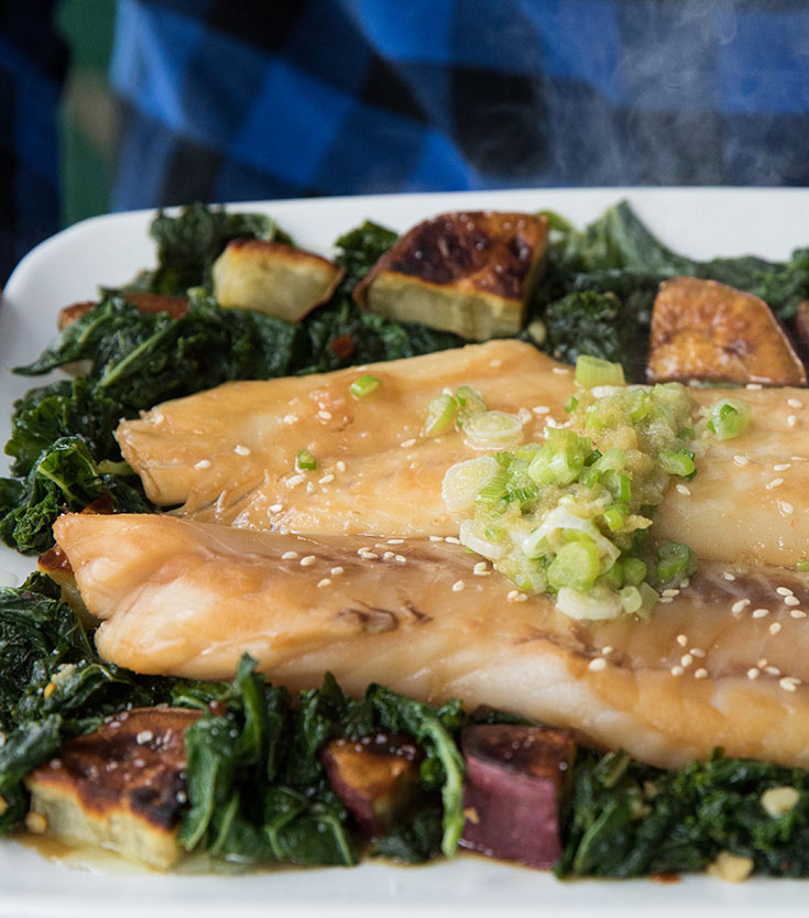 Steamed Black Rockfish (Black Bass) with Scallions and Ginger Recipe | Sitka Salmon Shares