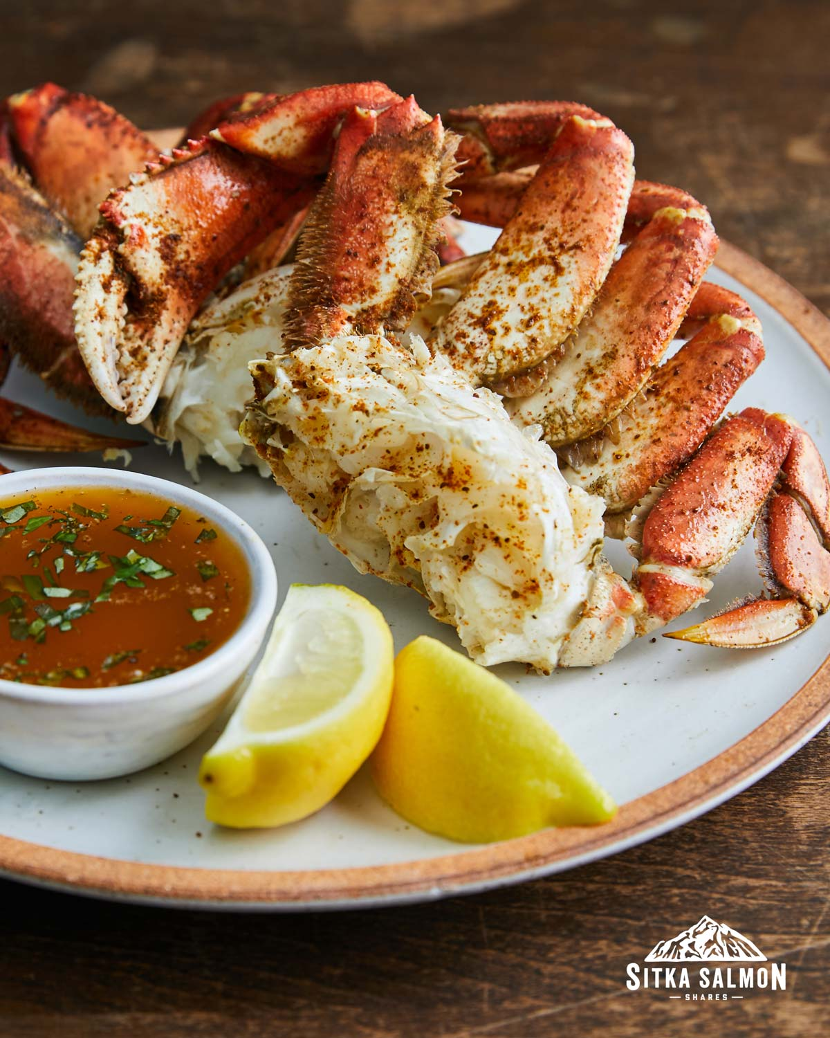 Steamed Dungeness Crab with Herbed Butter Recipe | Sitka Salmon Shares