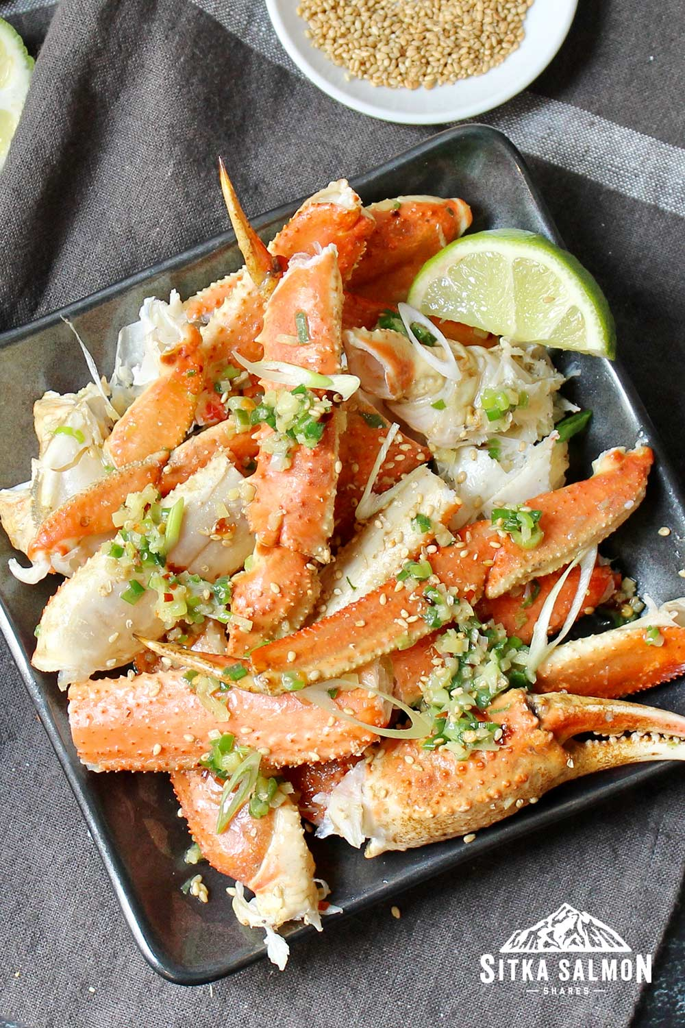 Stir-fried Crab Legs with Ginger-Scallion Butter Recipe | Sitka Salmon Shares