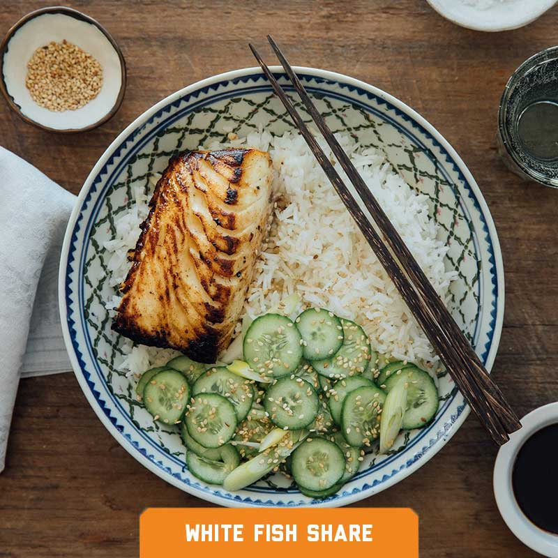 Nobu-Style Sablefish (Black Cod) Rice Bowl with Quick Pickles