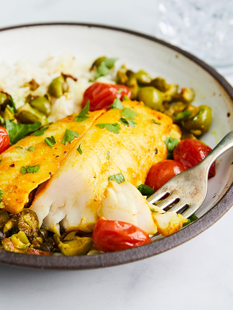 Turmeric Sablefish (Black Cod) with Tomatoes & Capers Recipe | Sitka Salmon Shares