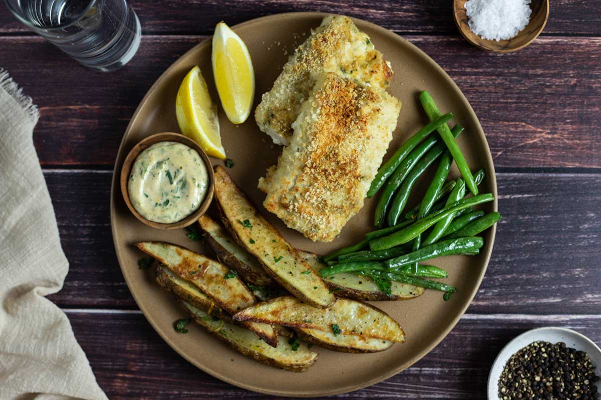 Oven baked fish fingers