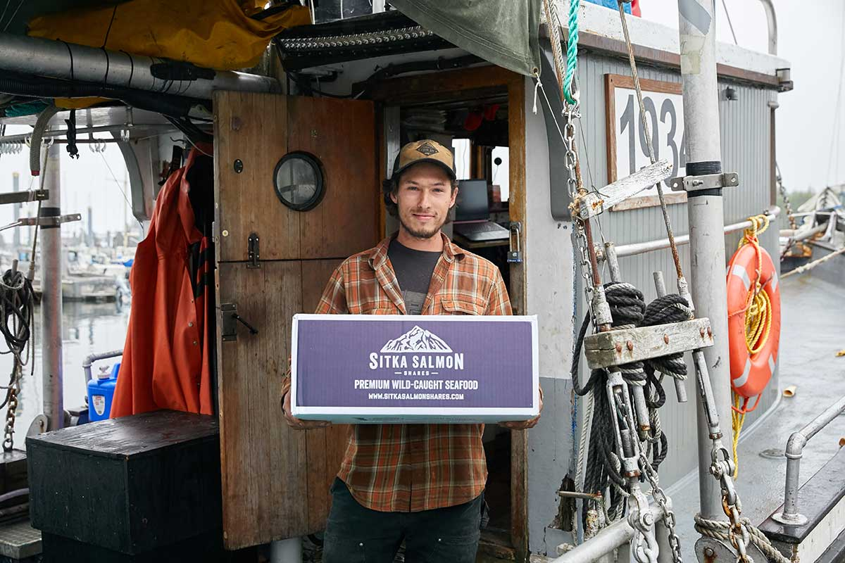 A small-boat fisherman serves up a delivery of Sitka Salmon Shares seafood