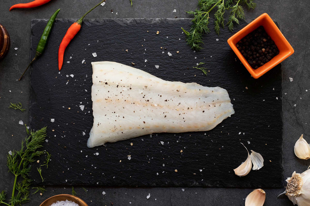 A delicious looking portion of wild-caught Alaska Pacific cod