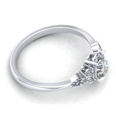 Phoenix oval, marquise and round moissanite ring