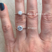 Draco round solitaire moissanite ring
