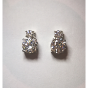 Vera double drop moissanite earrings