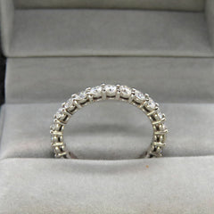 Scorpius moissanite eternity ring