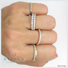 Three Sisters stackable moissanite ring