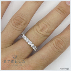 Ara moissanite eternity ring