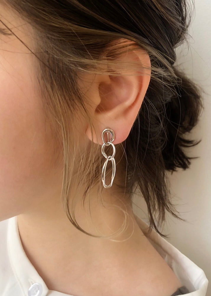 nuance oval pierce/earring