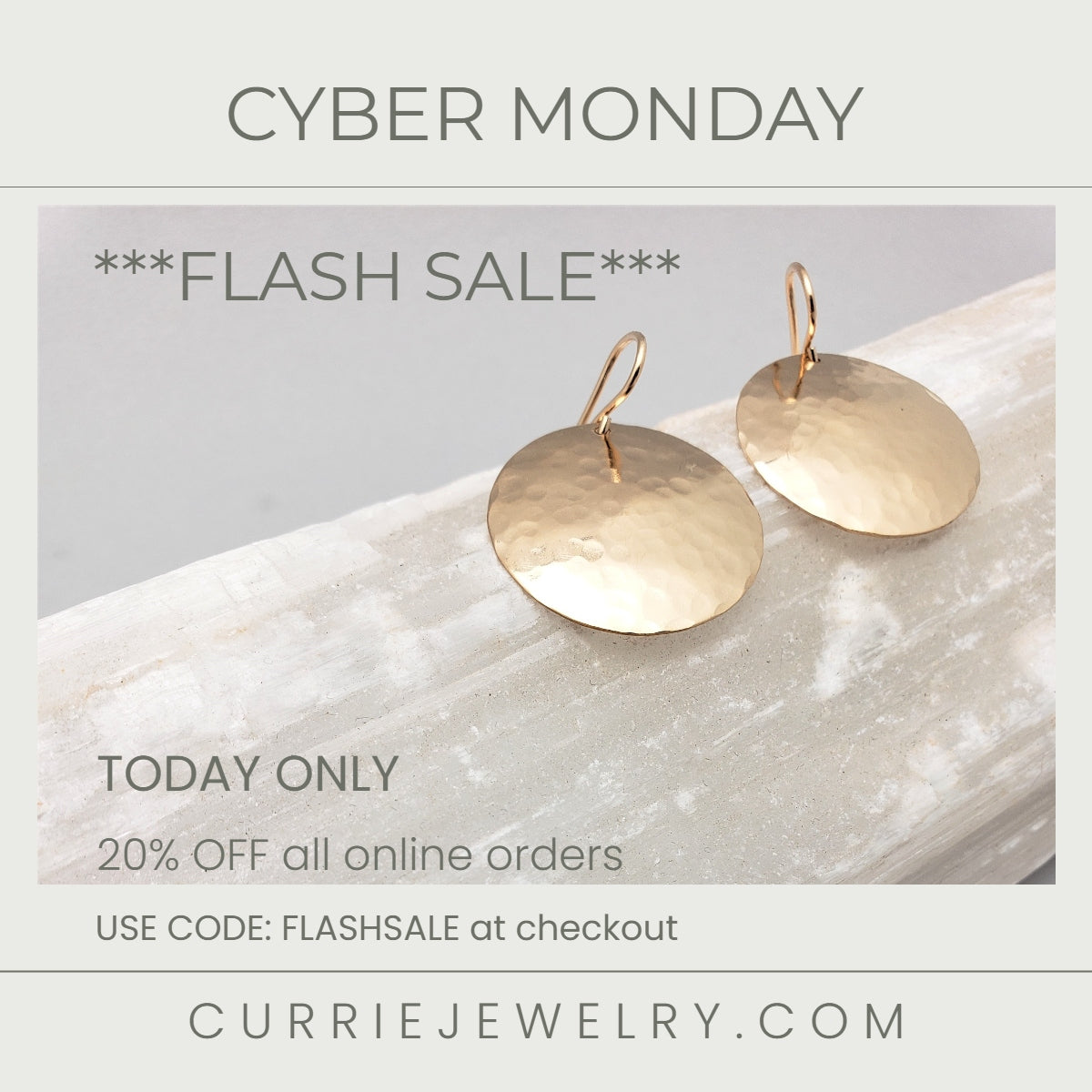 CYBER MONDAY 20% OFF ONLINE ORDERS