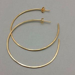 Hoops with Posts - Gold Filled and Sterling Silver