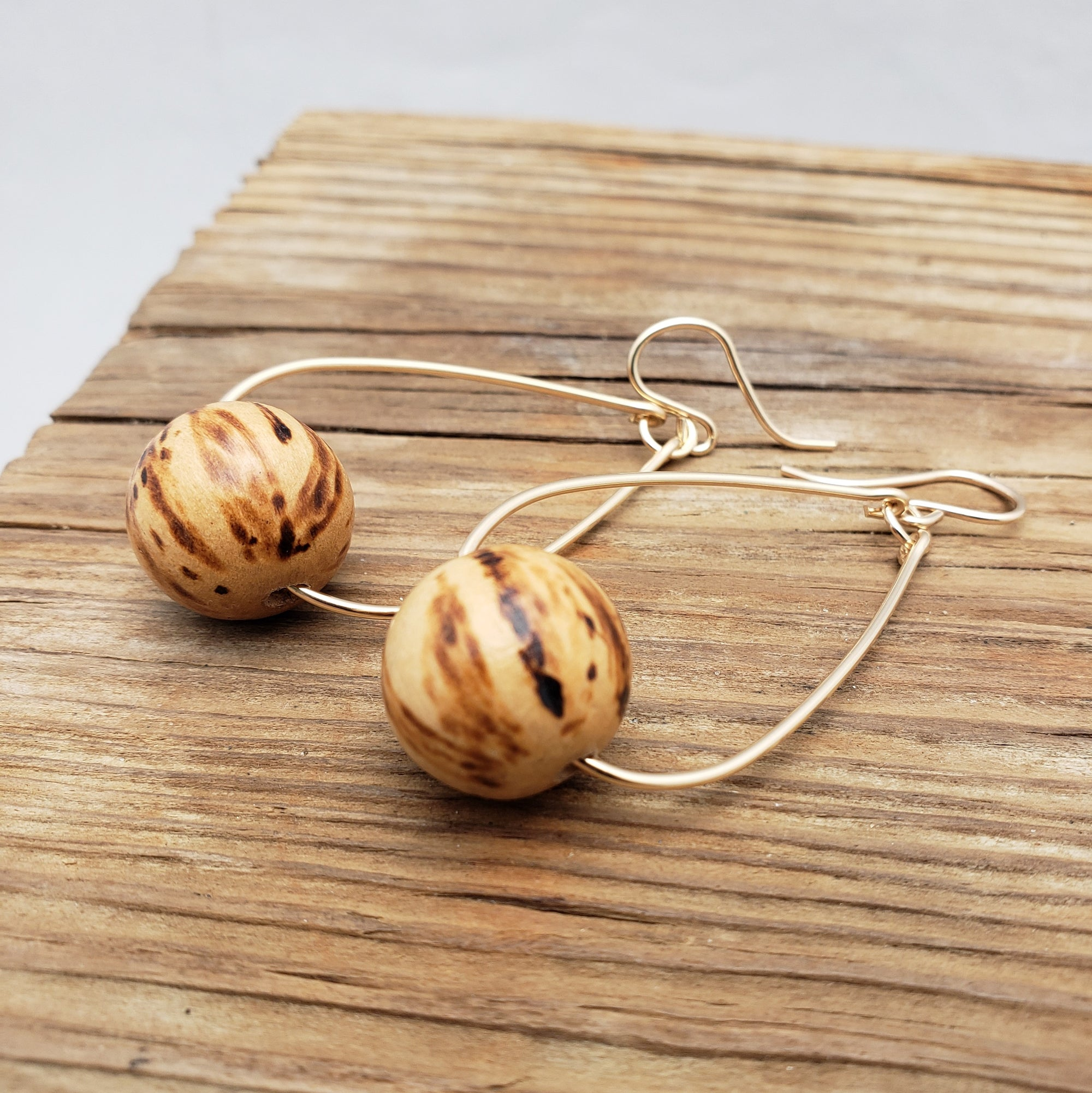 Wooden Ball Oval Hoops